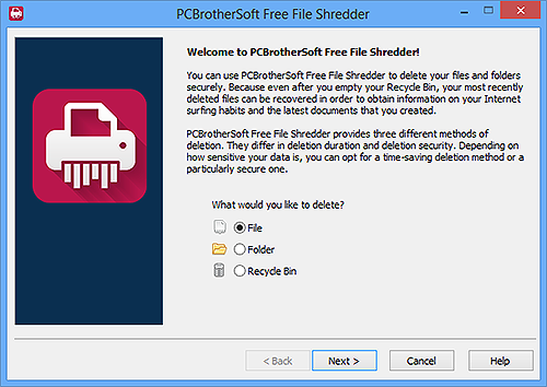 PCBrotherSoft Free File Shredder- How to Shred Files?