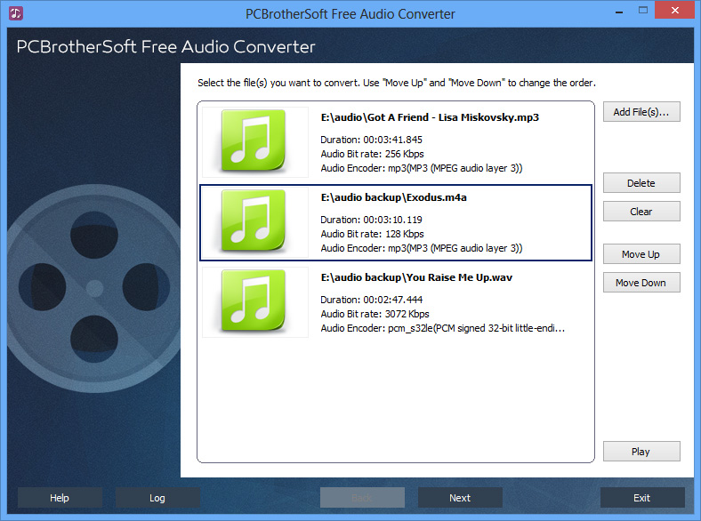 PCBrotherSoft Free Audio Converter full screenshot