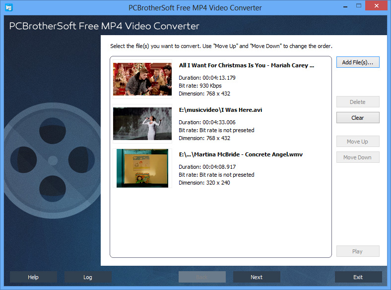 PCBrotherSoft Free MP4 Video Converter - click for full size