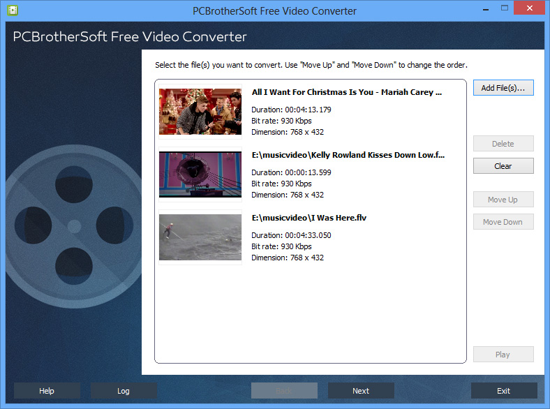 PCBrotherSoft Free Video Converter - click for full size