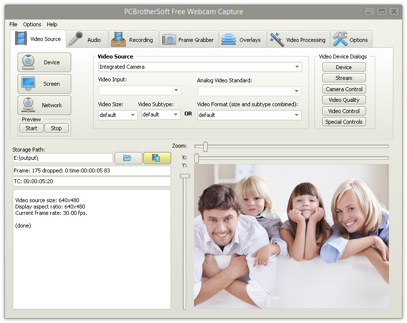 PCBrotherSoft Free Webcam Capture 8.5.1 full